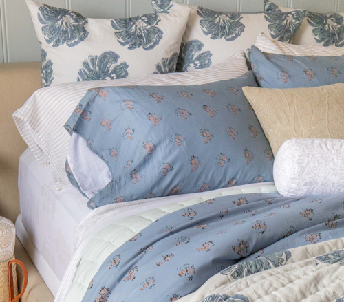 Single Euro Pillowcase in Big Floral  (One)