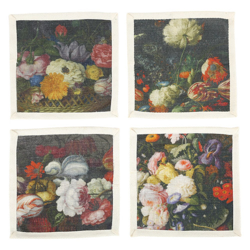 Floral Bouquet Cocktail Napkins (Set of 4)