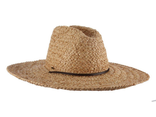 Carina Straw Raffia Hat (One Size Fits Most) in Natural