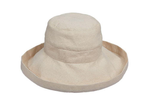 Gianna Cotton Hat (One Size Fits Most) in Linen