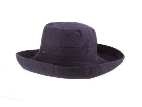 Gianna Cotton Hat (One Size Fits Most) in Denim Blue