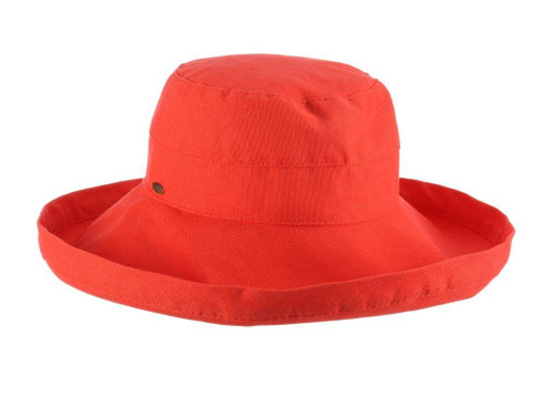 Gianna Cotton Hat (One Size Fits Most) in Coral