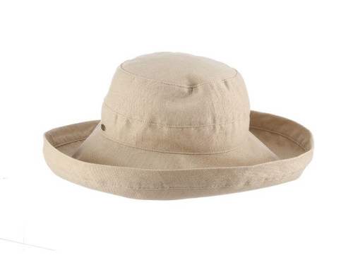 Gianna Cotton Hat (One Size Fits Most) in Taupe
