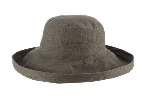 Gianna Cotton Hat (One Size Fits Most) in Olive