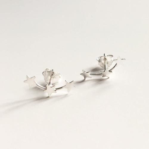 Silver Star Constellation Earrings