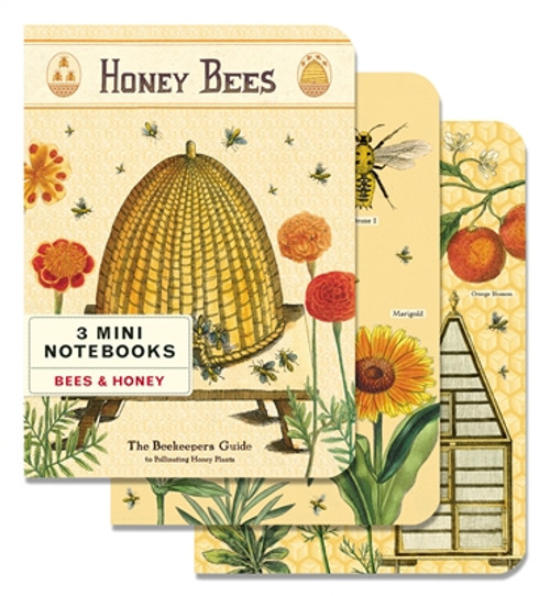 Bees & Honey Mini Notebook Set of 3