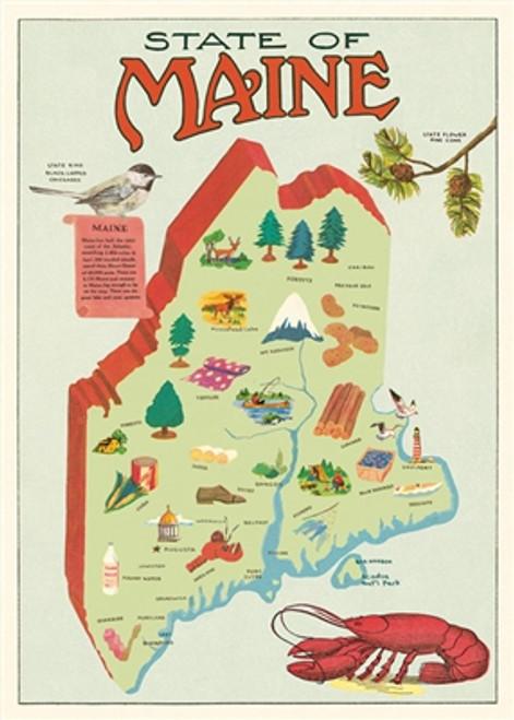 "Maine Map Wrap Sheet 20"" x 28"""