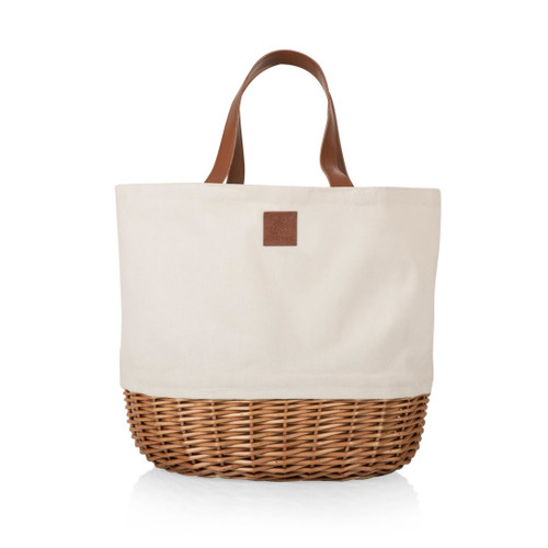 Picnic Basket or Beach Tote Bag in White