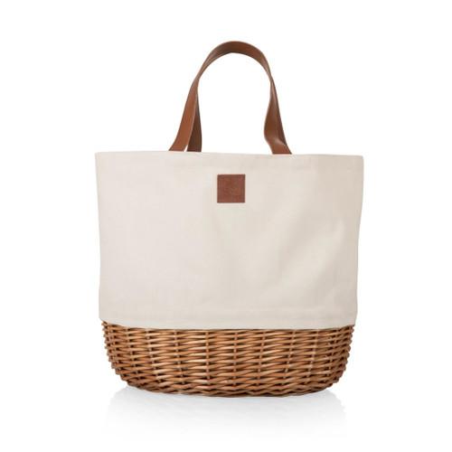 Picnic Basket or Beach Tote Bag in White