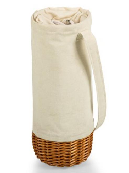 Wine Picnic Basket in White