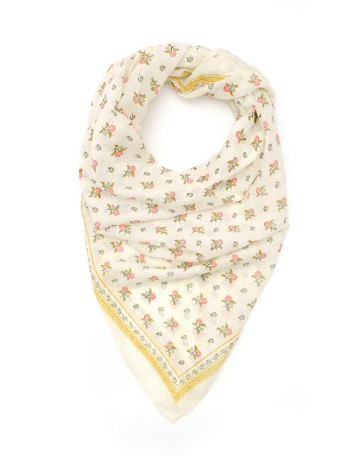 Pastel Floral Cotton 404 Scarf (square)