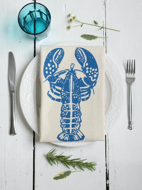 Lobster Tea Towel BLUE