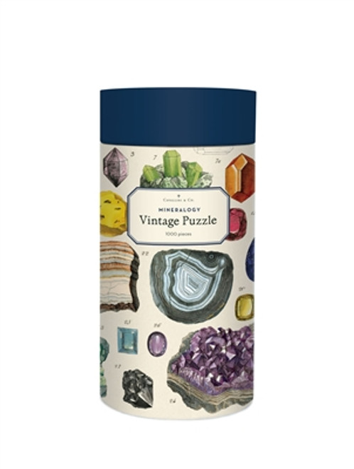 Vintage Puzzle Mineralogy 1000 Piece Puzzle