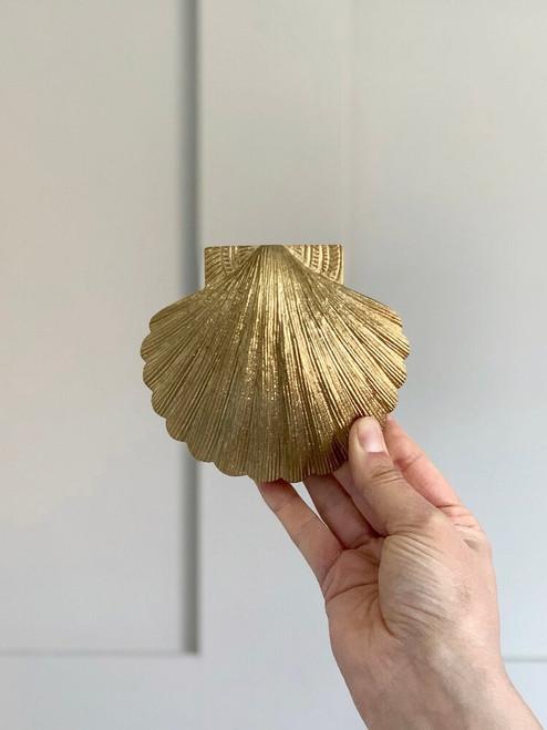 Shell Brass Door Knocker