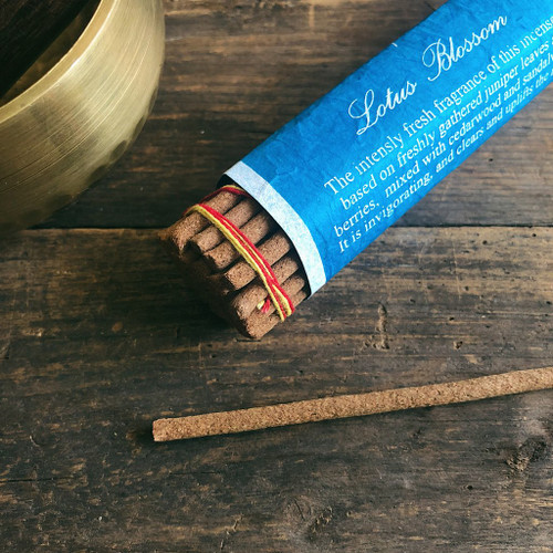 Lotus Blossom Incense Handcrafted by Tibetan Nuns