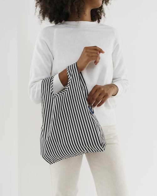 Baby Baggu in Black and White Stripe