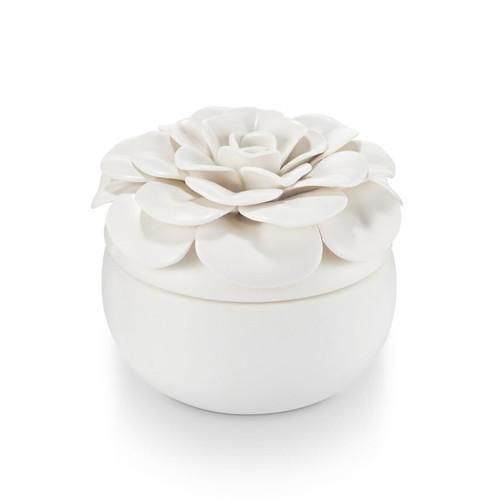 Ceramic Flower Candle Gardenia