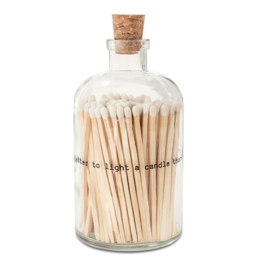 "Poetry Large Match Bottle ""It's Better To Light A Candle Than To Curse The Darkness"""