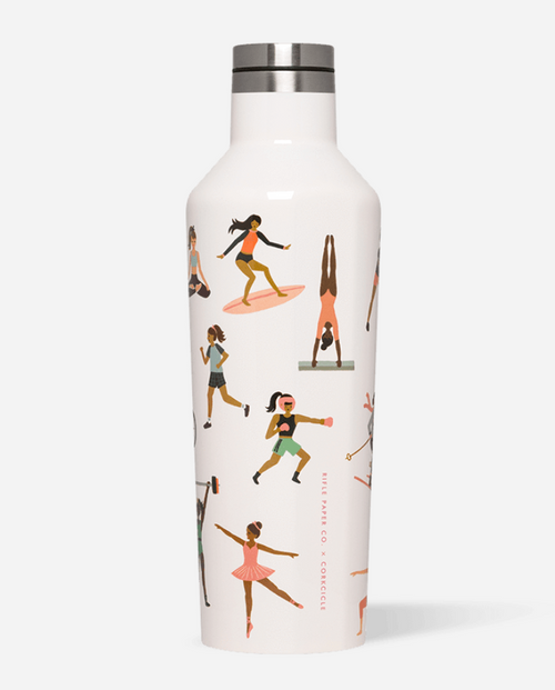 Corkcicle Rifle Paper Hot Cold Canteen in Sports Girl