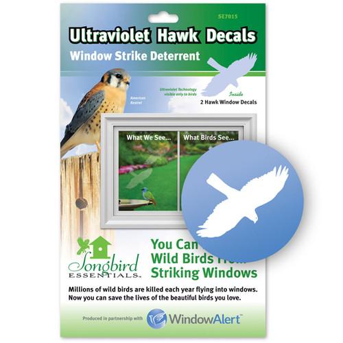 Window Alert Bird Strike Window Decals in HAWK