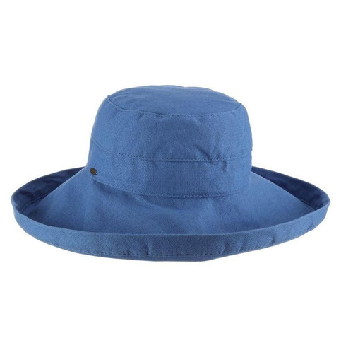 Gianna Cotton Hat (One Size Fits Most) in Royal
