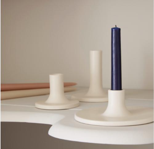 Ceramic Taper Candle Holder Wide