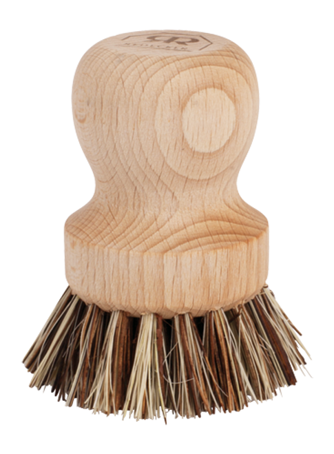 Redecker Pot Brush Scrubber in Beechwood and Union Fibre