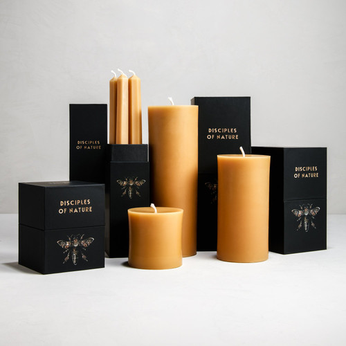 Gold Beeswax Pillar Candle (assorted sizes)