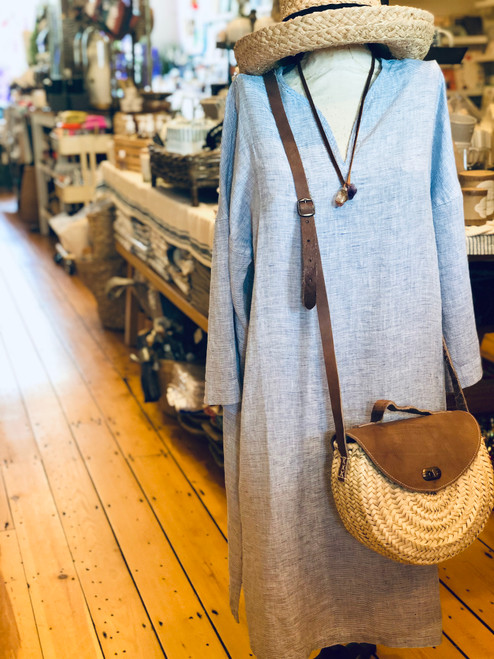 Linen Nida Tunic Dress (in either blue or gray)