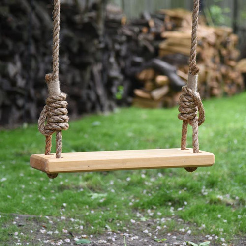"""36"""" Old Fashioned Cypress Wood Tree Swing in Natural"""