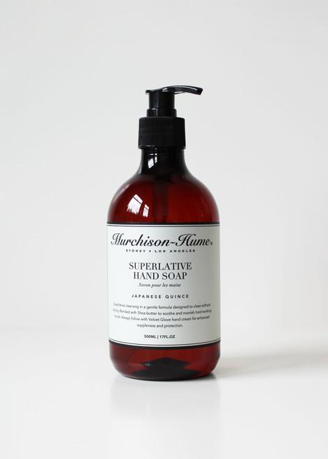 17oz Superlative Hand Soap (Lemon Myrtle, Japanese Quince)