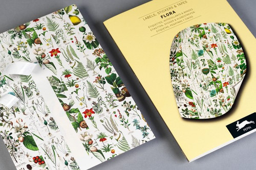 FLORA Label, Sticker and Tape Book Set