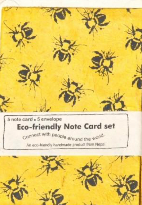 Bee Note Card Set of 5