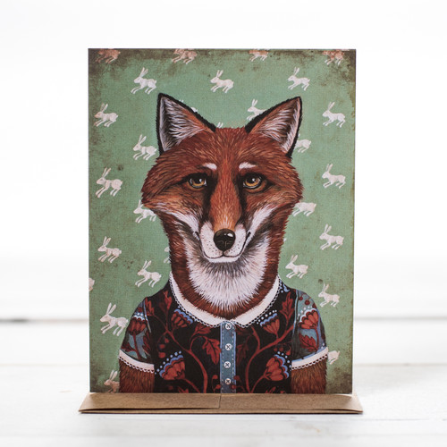 Ms. Rosa Red Le Fox Greeting Card
