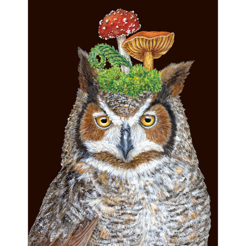 Woody The Owl Greeting Card