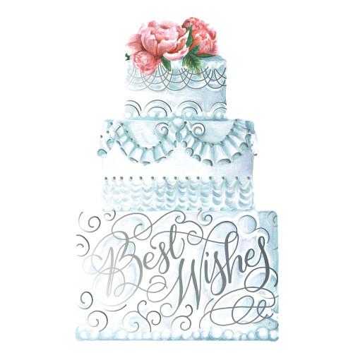 Best Wishes Wedding Cake Grand Flat Note