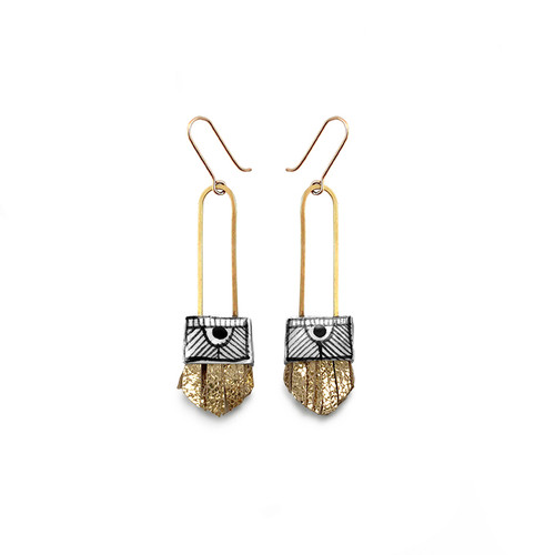 Regalo Shortie Earrings with GOLD FRINGE