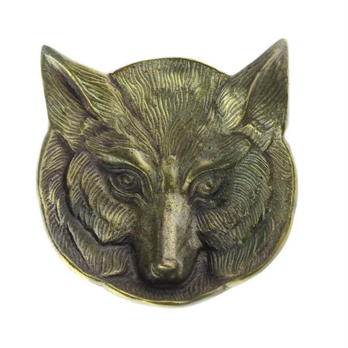 FOX Dish in Brass Plated Aluminum 5""