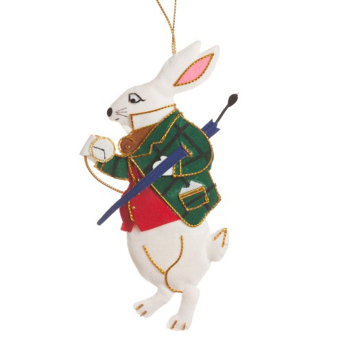 Alice's White Rabbit Ornament