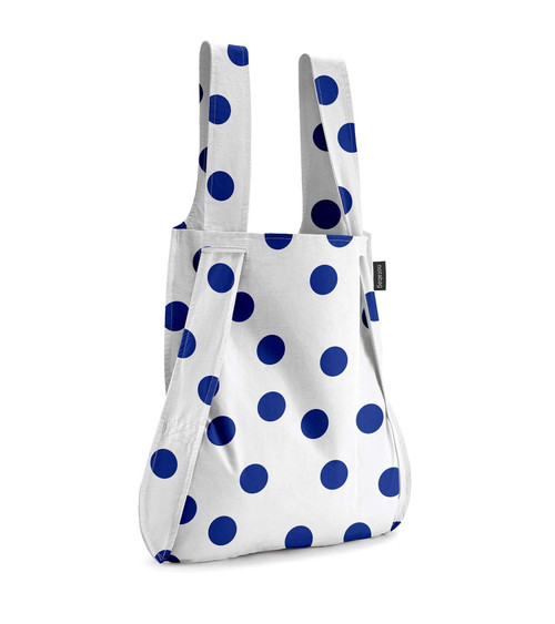 Notabag Blue + White Dot Bag + Backpack