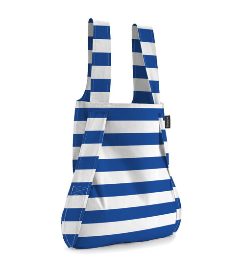 Notabag Blue + White Marine Stripe Bag + Backpack