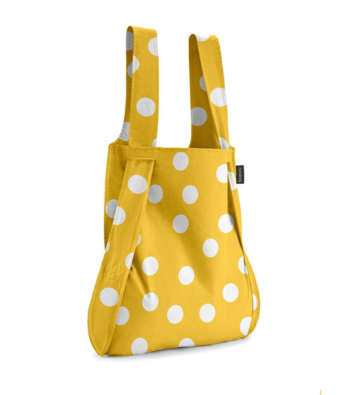 Notabag Yellow + White Dot Bag + Backpack