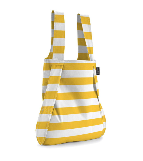 Notabag Yellow + White Stripe Bag + Backpack