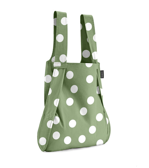 Notabag Green + White Dots Bag + Backpack