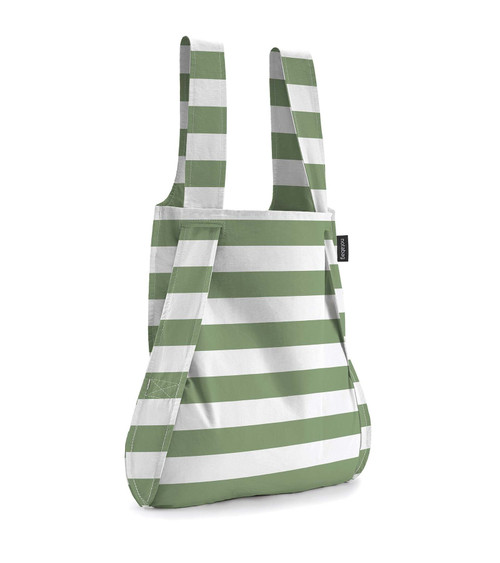 Notabag Green + White Stripes Bag + Backpack