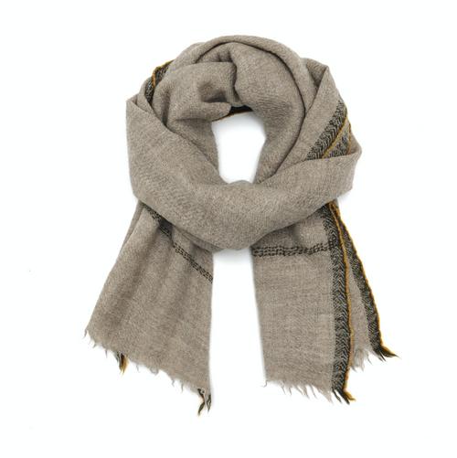 Wool Scarf 473 Natural