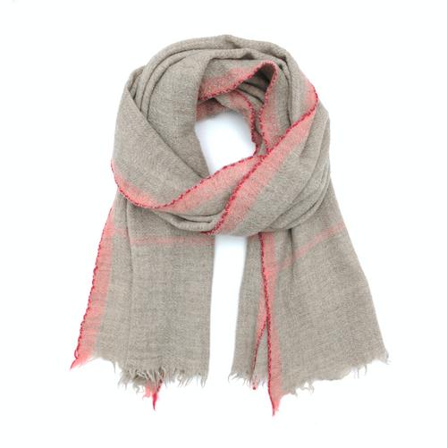 Wool Scarf 473 Pink