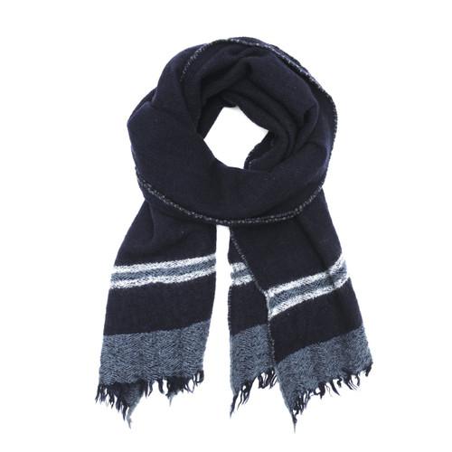 Wool Scarf 465 Japan Blue