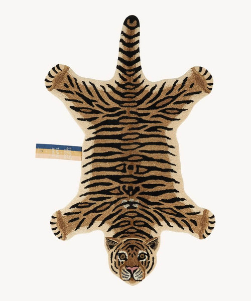 Drowsy Tiger Animal Rug in Large