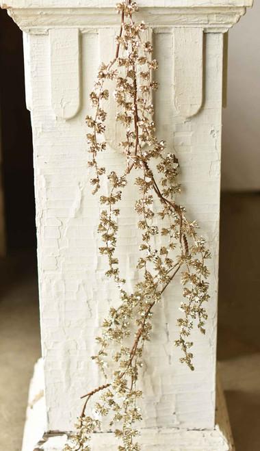 Glitter Pine Faux Garland 5'